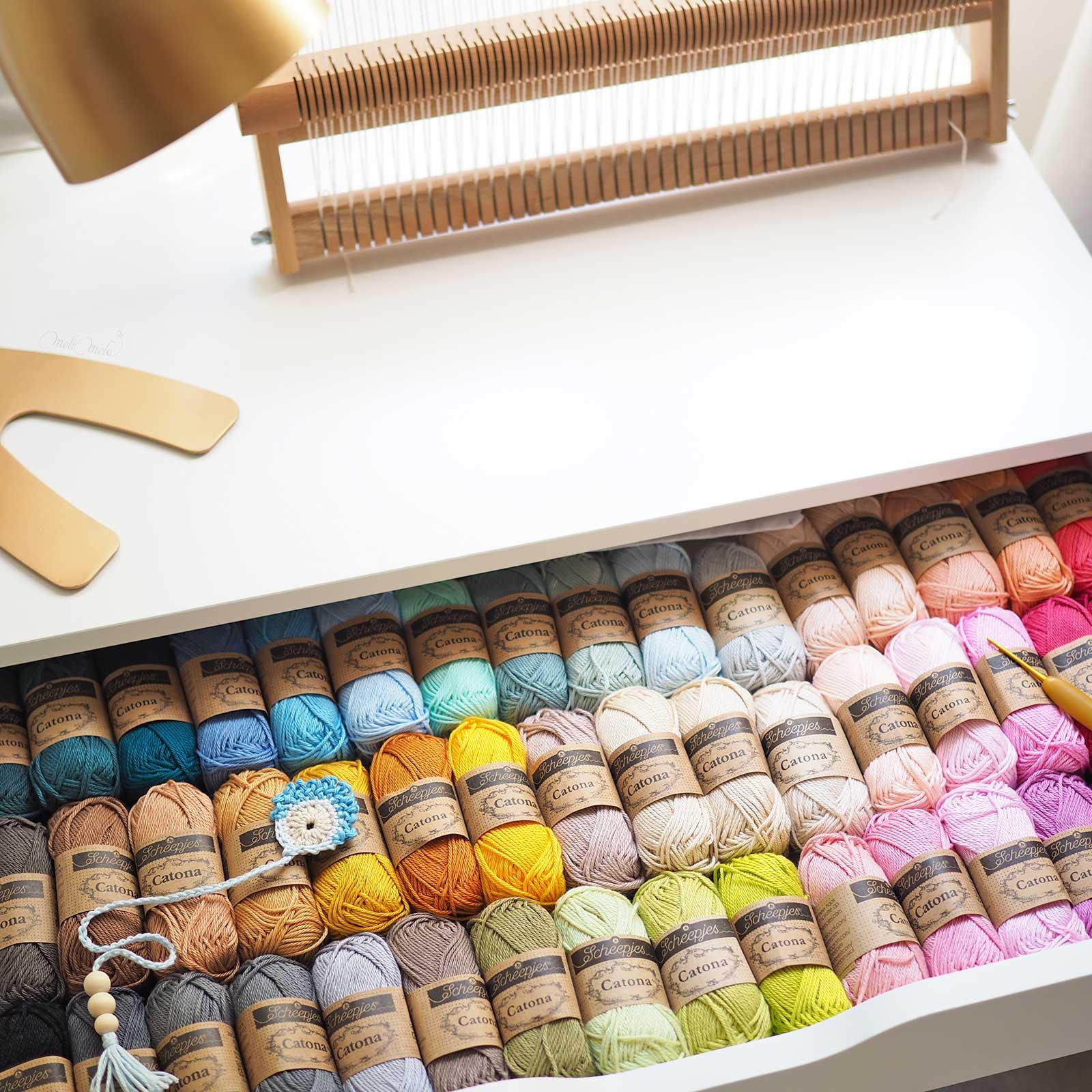 choix couleurs coton Catona Scheepjes créations au crochet laboutiquedemelimelo