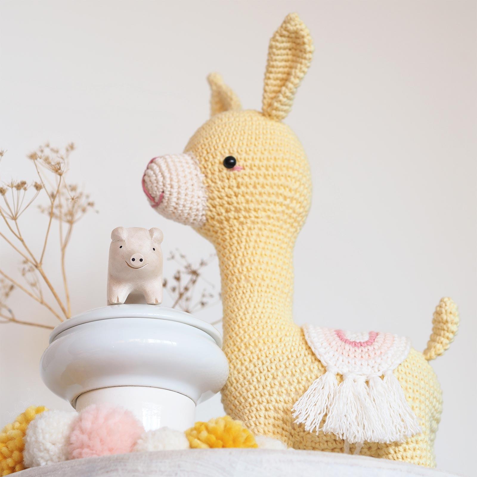 cochon tlabjapan doudou marcia alpaca amigurumi picapau crochet lama alpaga laboutiquedemelimelo