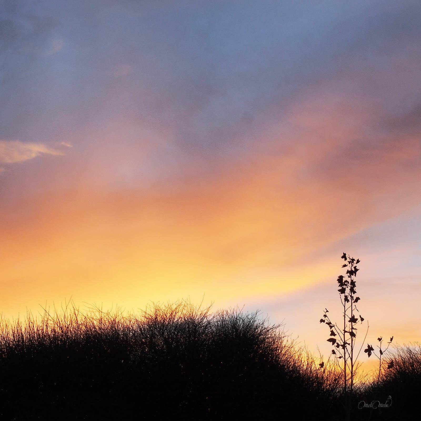 coucher de soleil décembre valladolid hiver