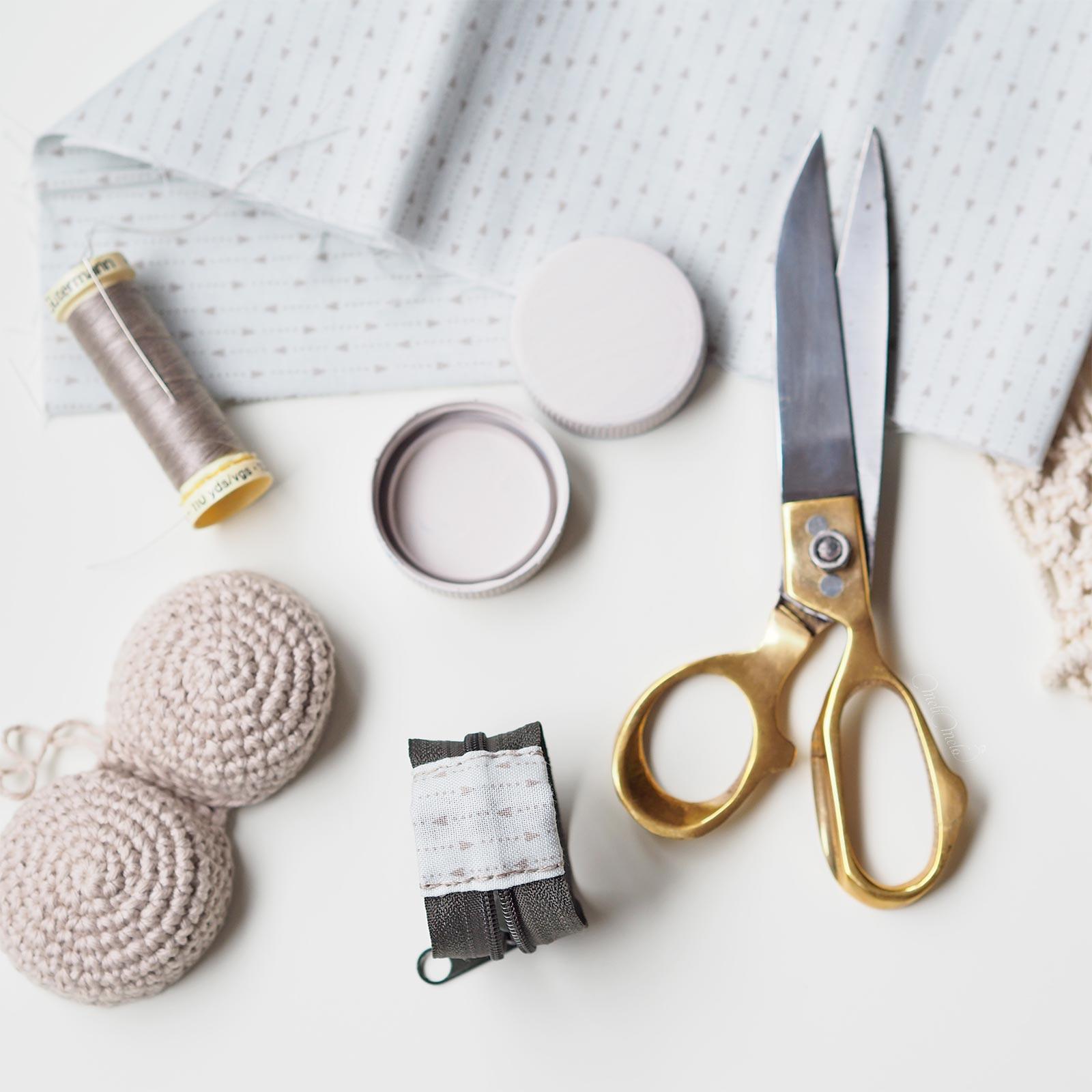 couture blocage zip crochet boitier chouettekit boutique melimelo