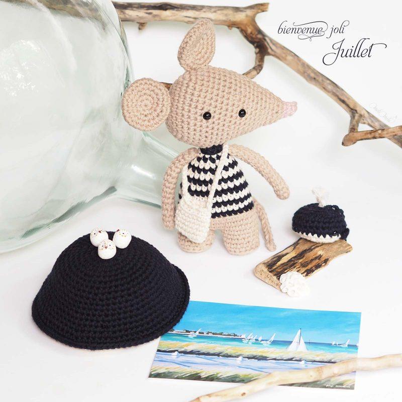 créations crochet thème marin marinière coton dame jeanne laboutiquedemelimelo