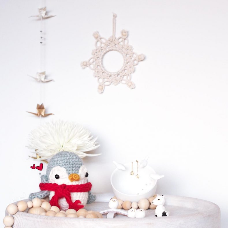 créations mignonneries crochet pingouin sticker story instagram winter laboutiquedemelimelo