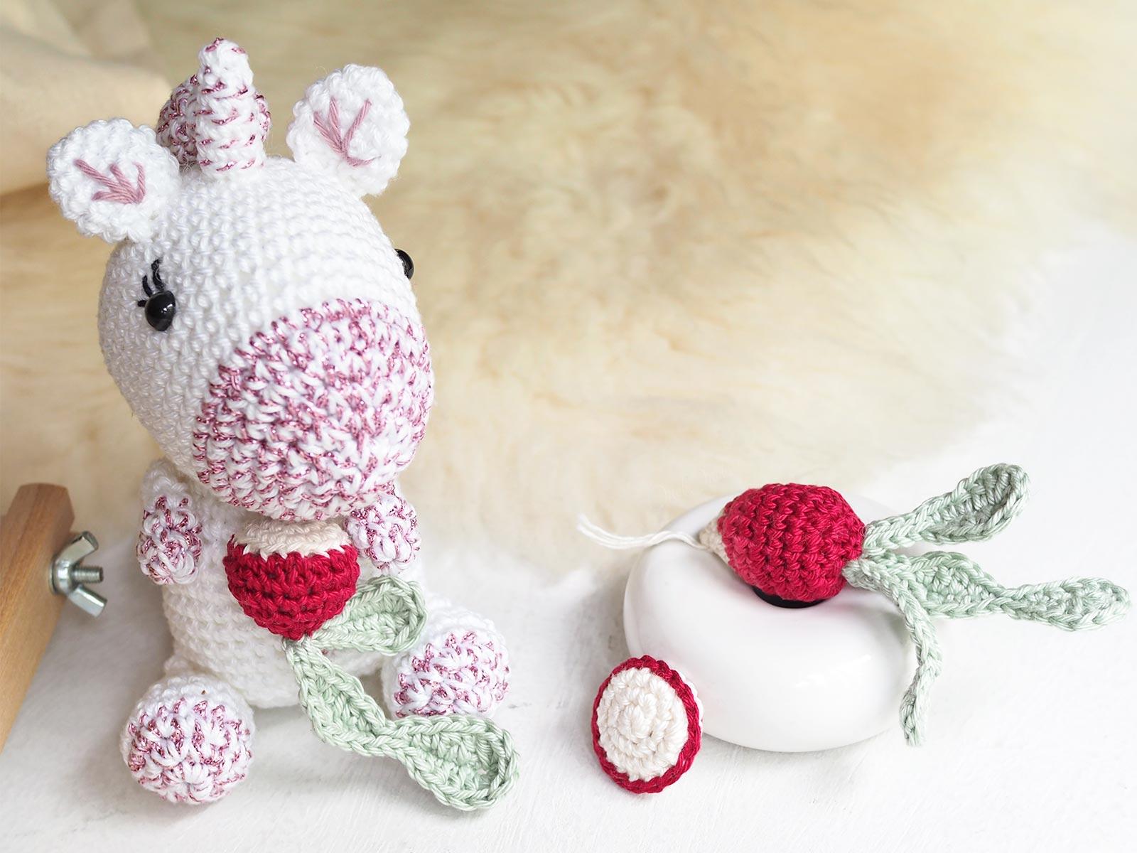 crochet amigurumi charlotte licorne coton radis laboutiquedemelimelo