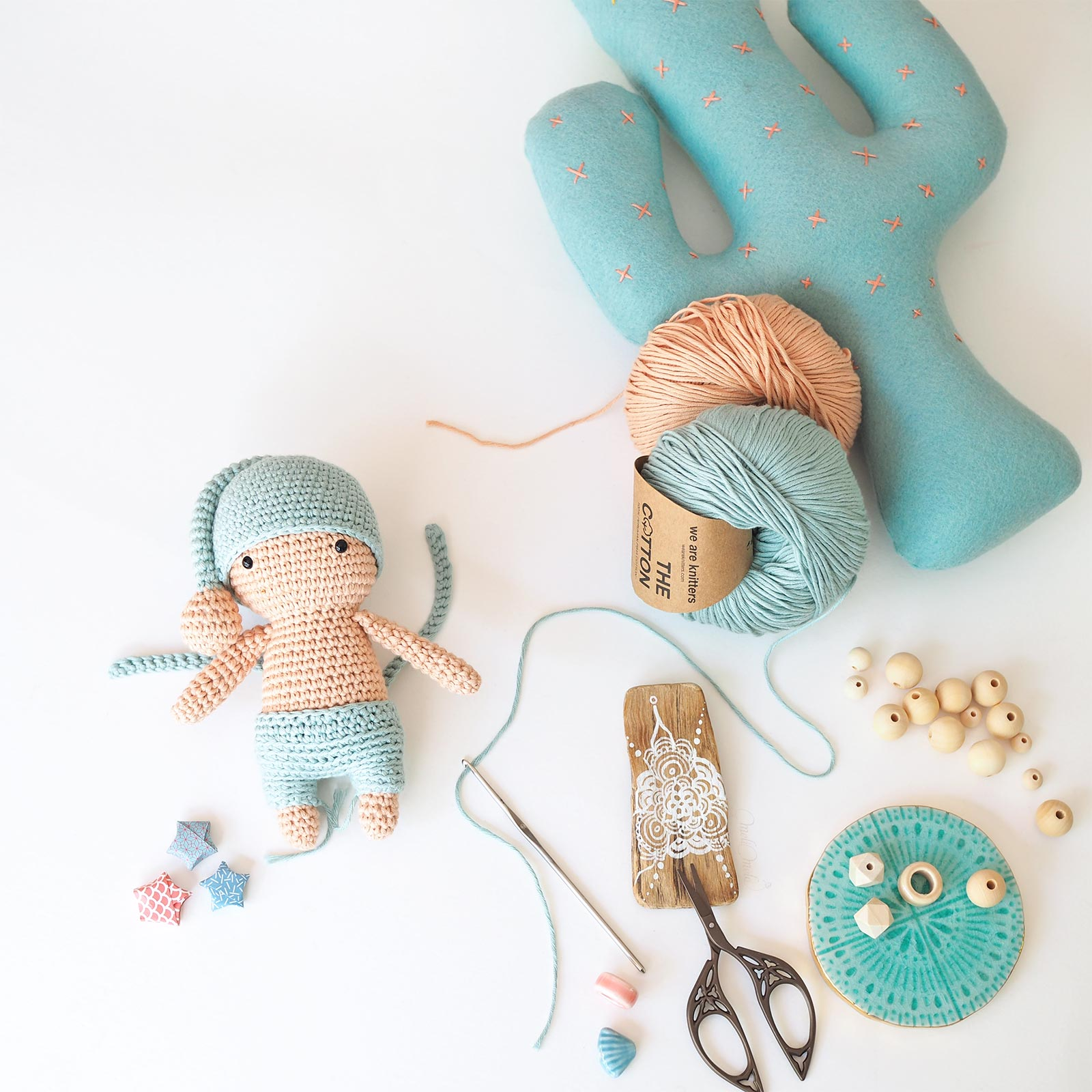 crochet amigurumi petit dormeur salopette The Cotton Wool We Are Knitters laboutiquedemelimelo