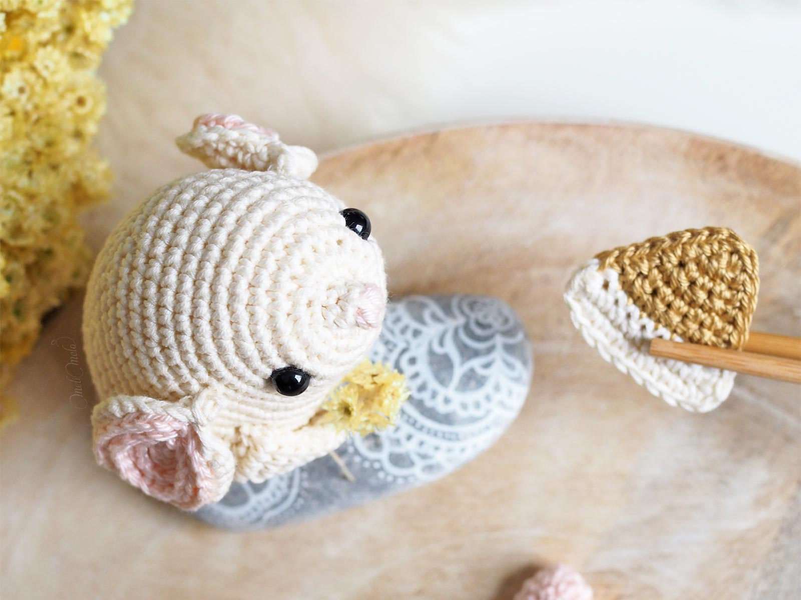 crochet amigurumi souris DMC Natura coton Boutique MeliMelo