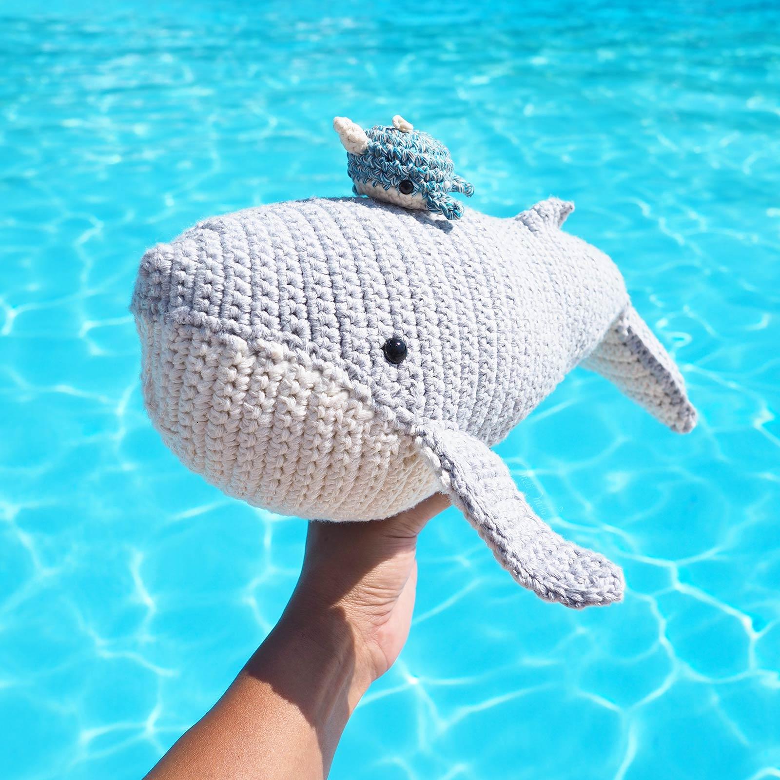 crochet baleine narval whale amigurumis boutique MeliMelo