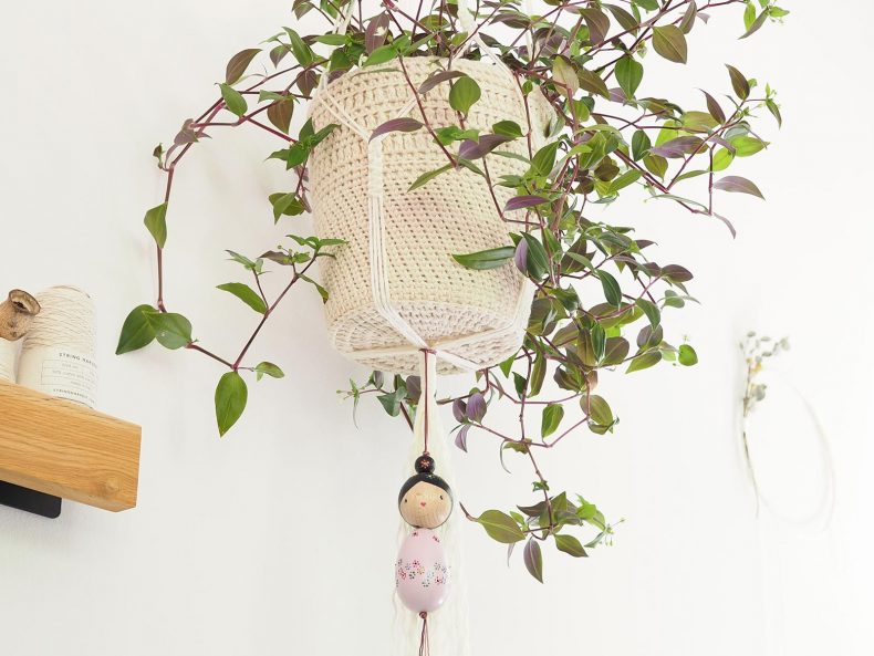 cache-pot crochet suspension macramé tradescantia flumensis pink hill serial crocheteuses 429 laboutiquedemelimelo