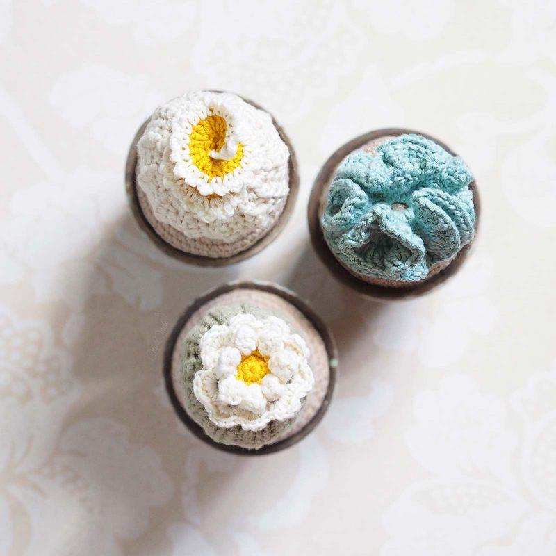 trio cactus décoration succulente crochet coton laboutiquedemelimelo