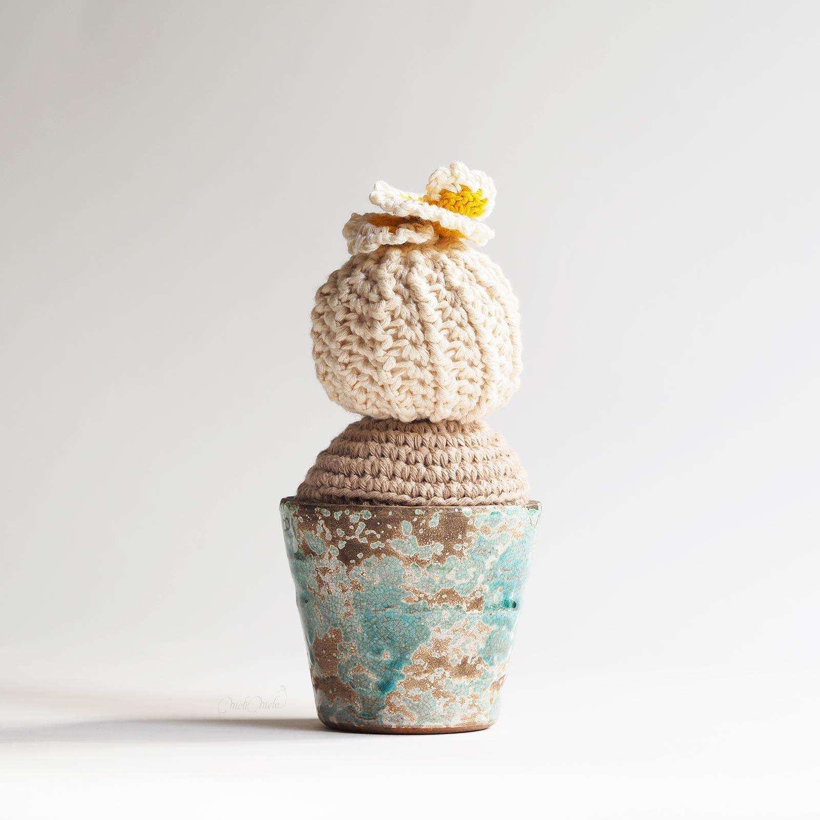 crochet cactus modèle boule déco coton homeware laboutiquedemelimelo
