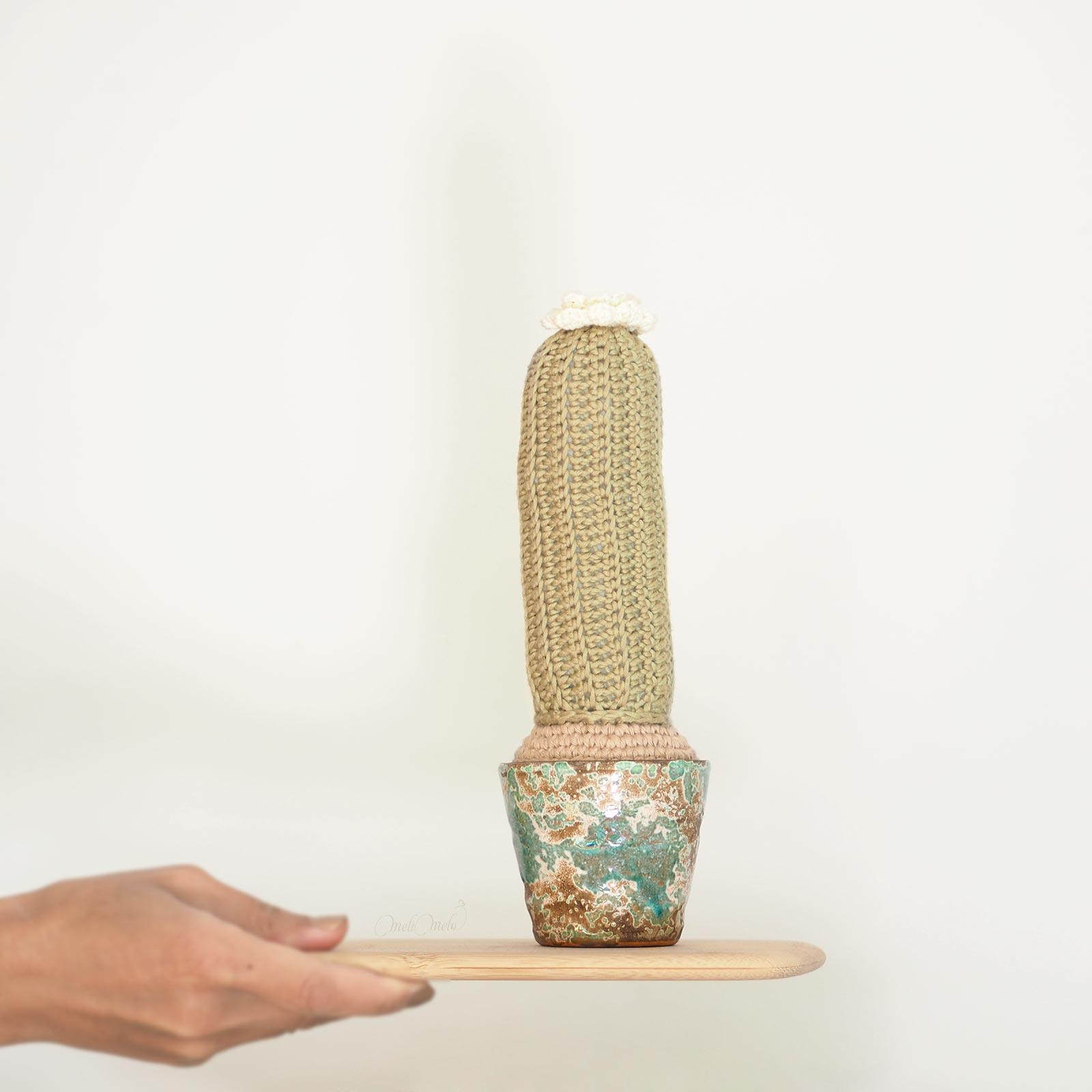 crochet cactus haut coton pima thecottonwool weareknitters dmc natura céramique homeware laboutiquedemelimelo