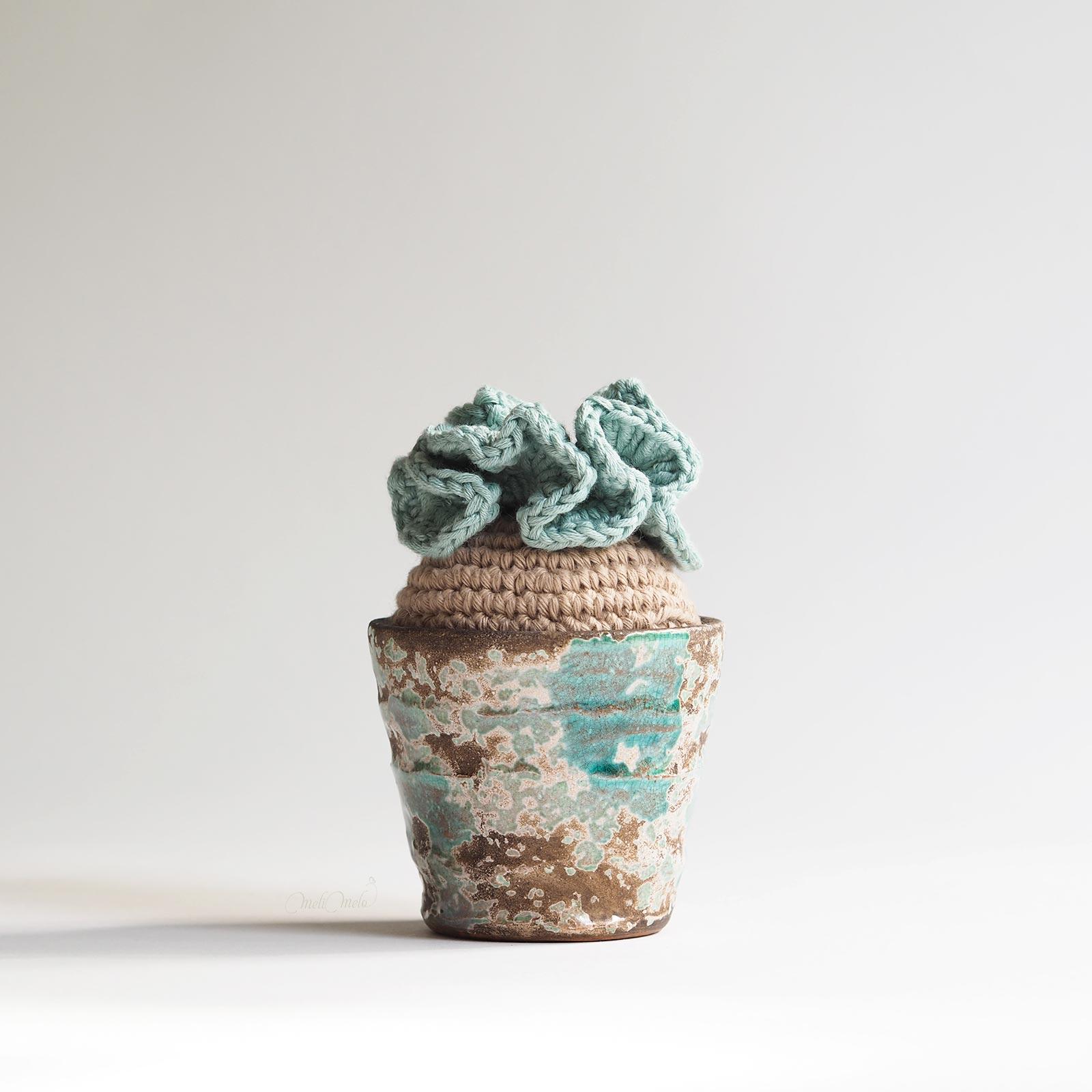 crochet cactus modèle succulente déco coton homeware laboutiquedemelimelo