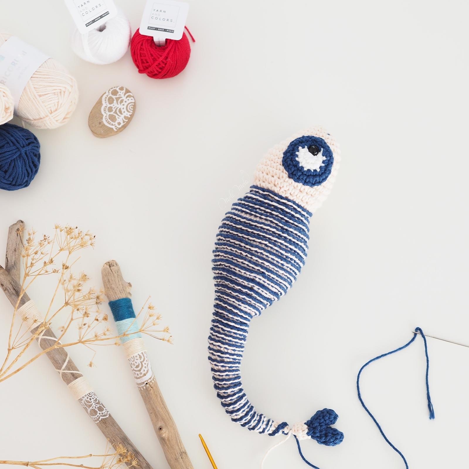 crochet caméléon rayures marinière chameleon juliakapattern laboutiquedemelimelo