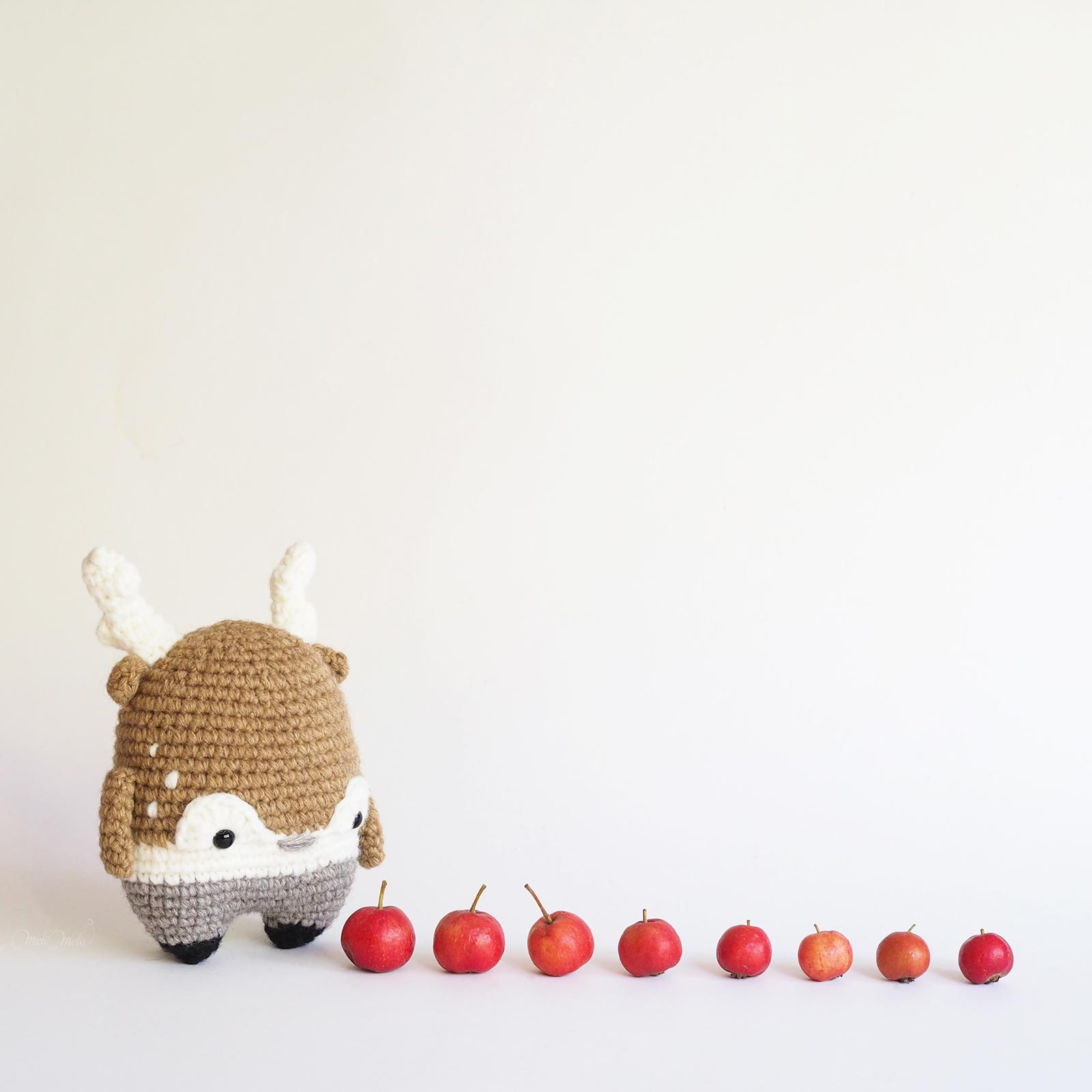 doudou cerf pommes Heinz crochet deer stag Lalylala wool Alpaca Chunky Ricodesign laboutiquedemelimelo