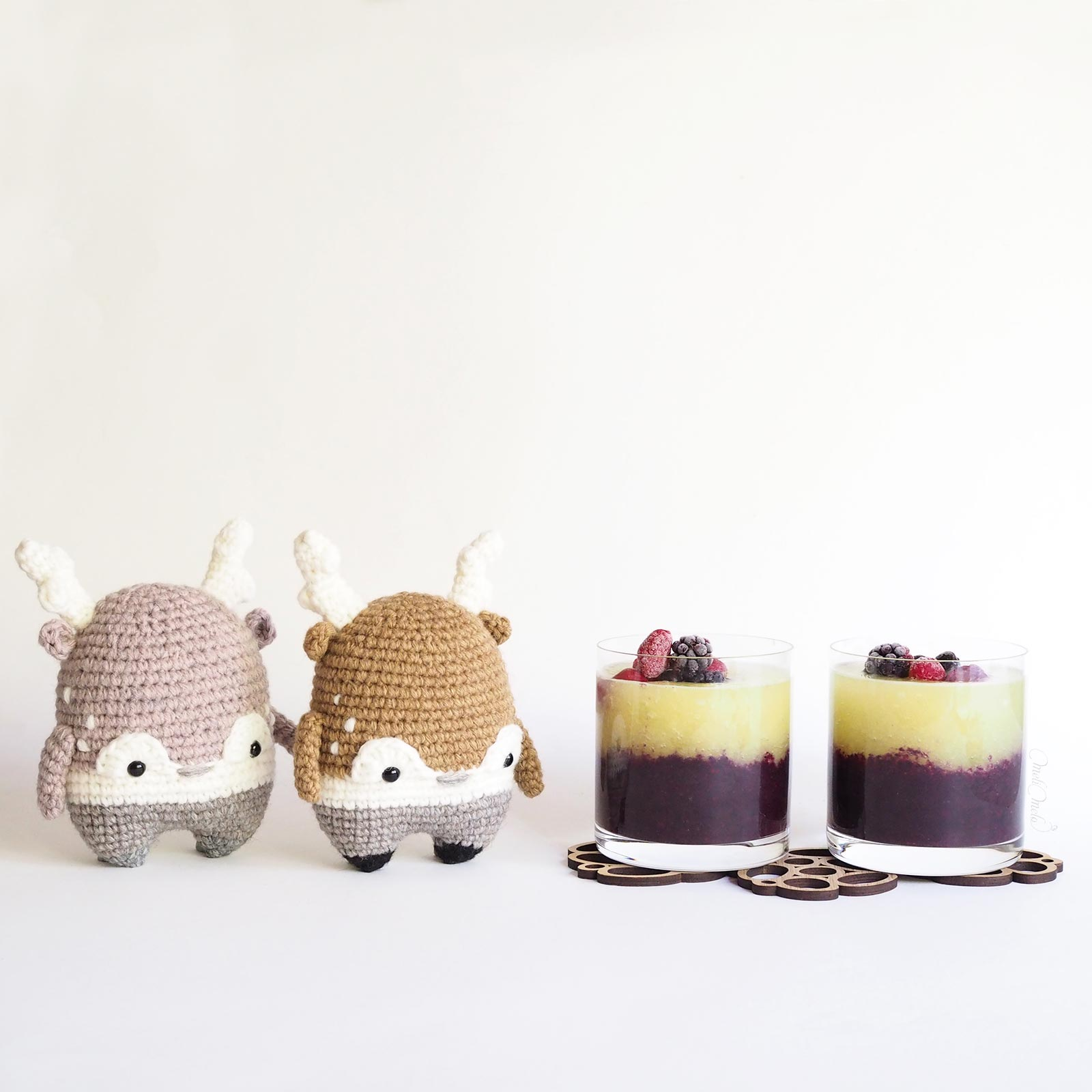 doudou cerfs très gourmands Heinz crochet deer stag Lalylala wool Alpaca Chunky Ricodesign laboutiquedemelimelo