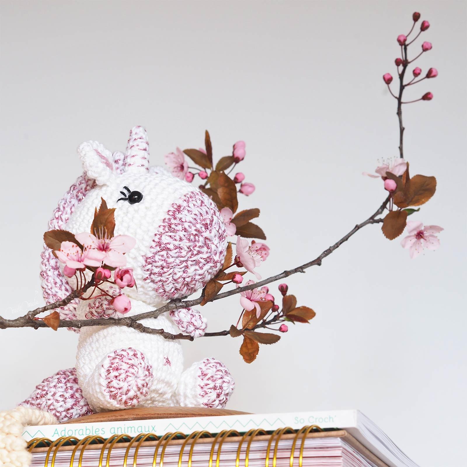 crochet charlotte licorne coton ricorumi cosmic pink woolandthegang laboutiquedemelimelo