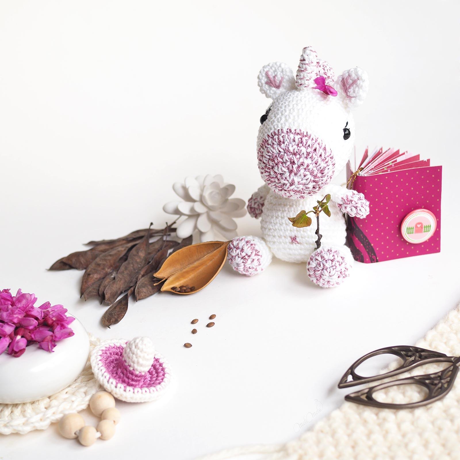 crochet charlotte licorne scrapbooking carnet laboutiquedemelimelo