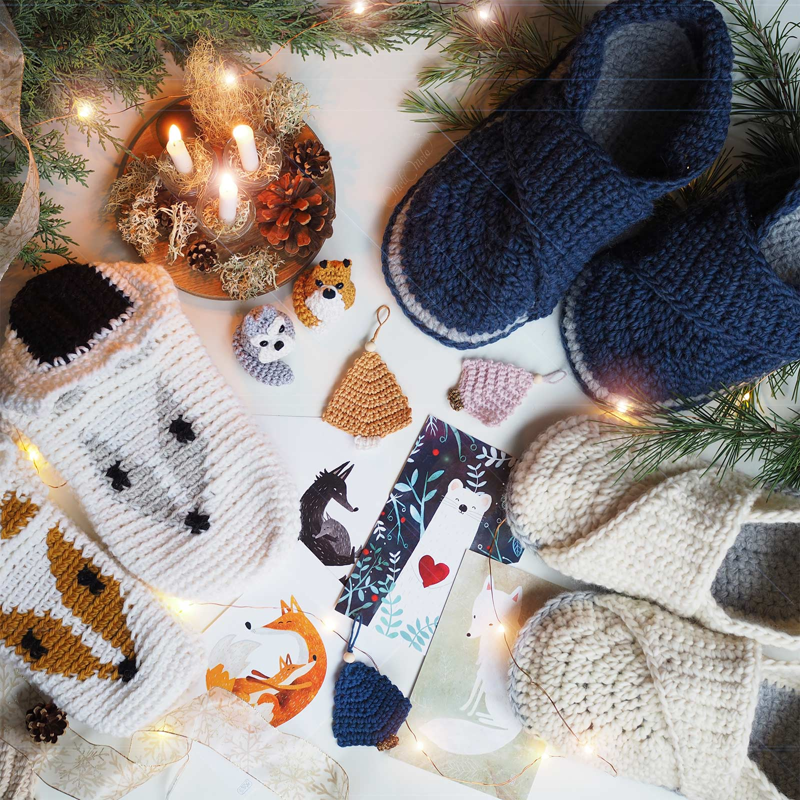 crochet-chaussons-laine-slippers-wool-laboutiquedemelimelo-