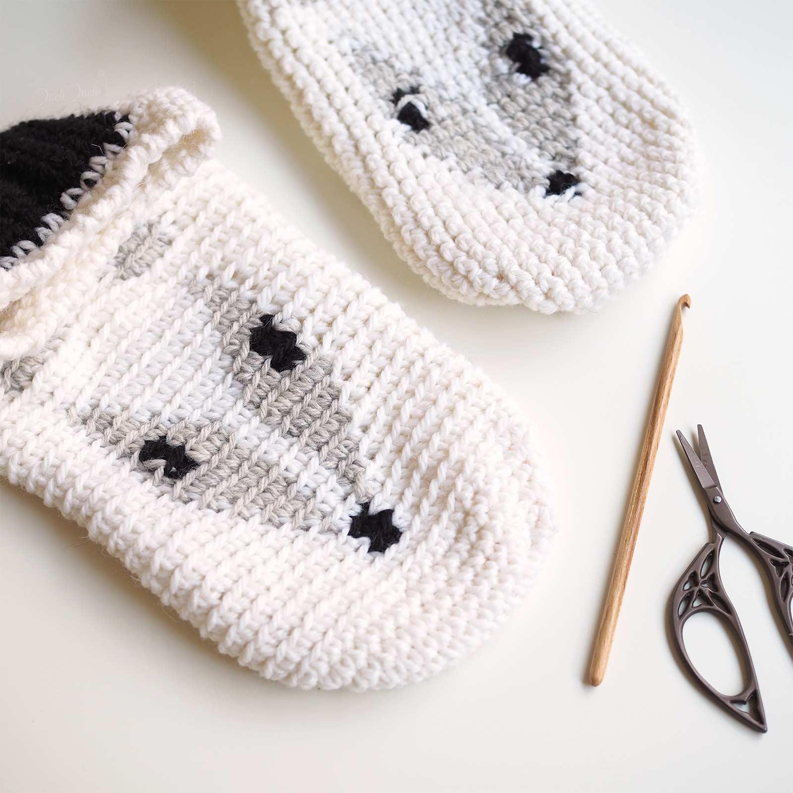 crochet chaussons loup slippers wolf boutique melimelo devine debris