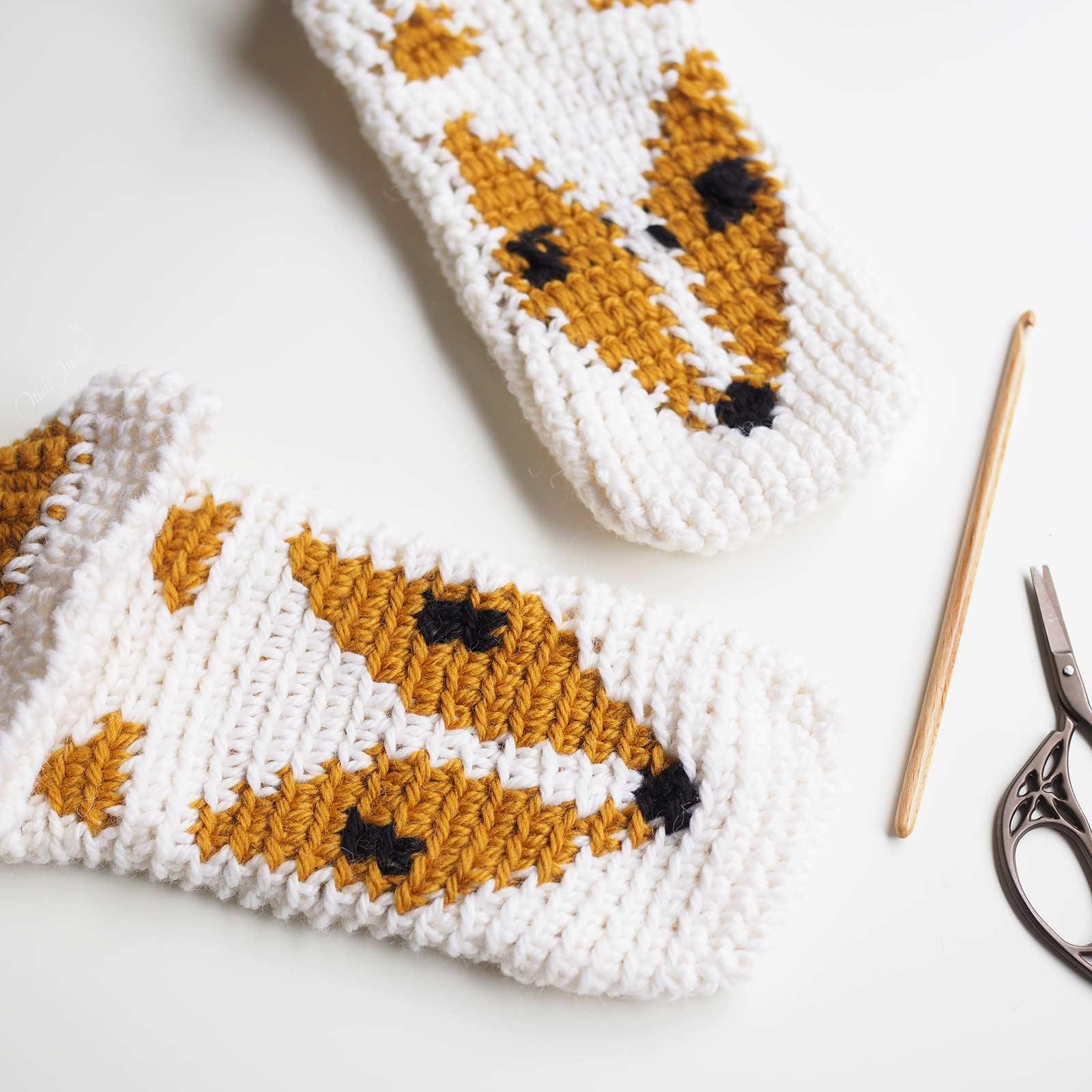 crochet chaussons renard slippers fox boutique melimelo devine debris