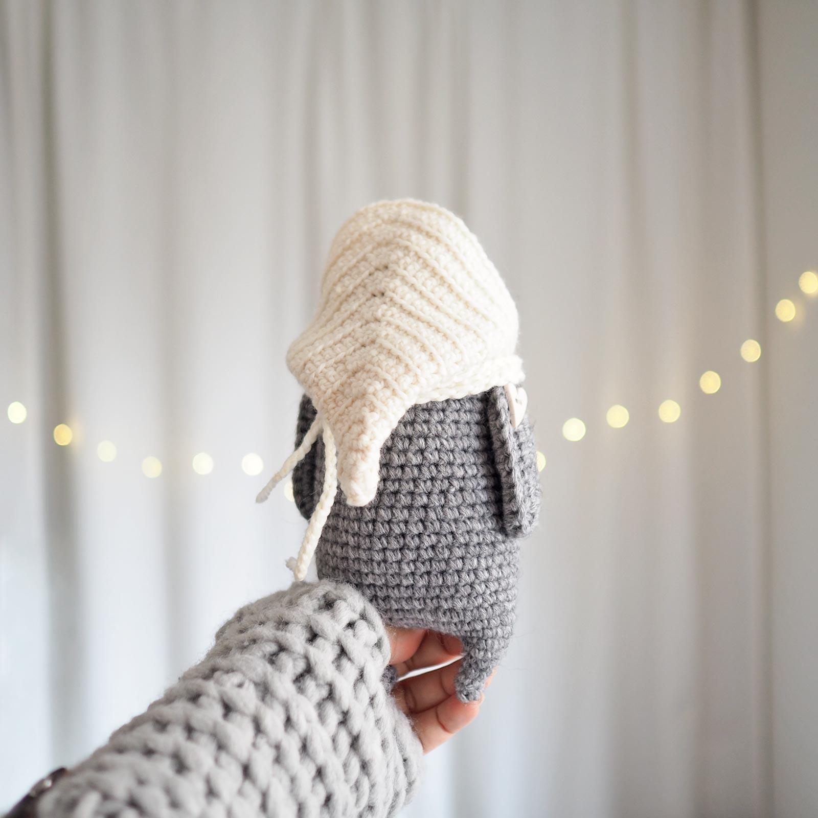 crochet chouette lutine capuche laine little owlet owl laboutiquedemelimelo