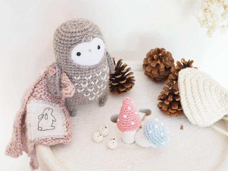 crochet chouette lutine champignons serial crocheteuses 452 la boutique de melimelo