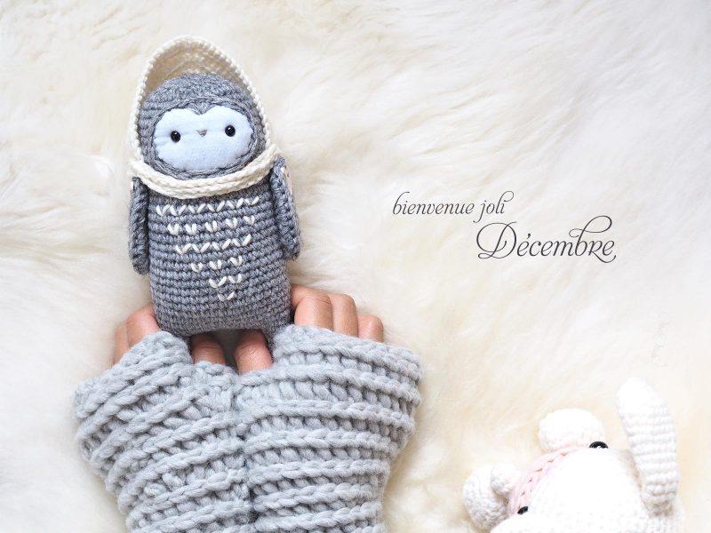 crochet chouette lutine laine little owlet owl hygge décembre laboutiquedemelimelo
