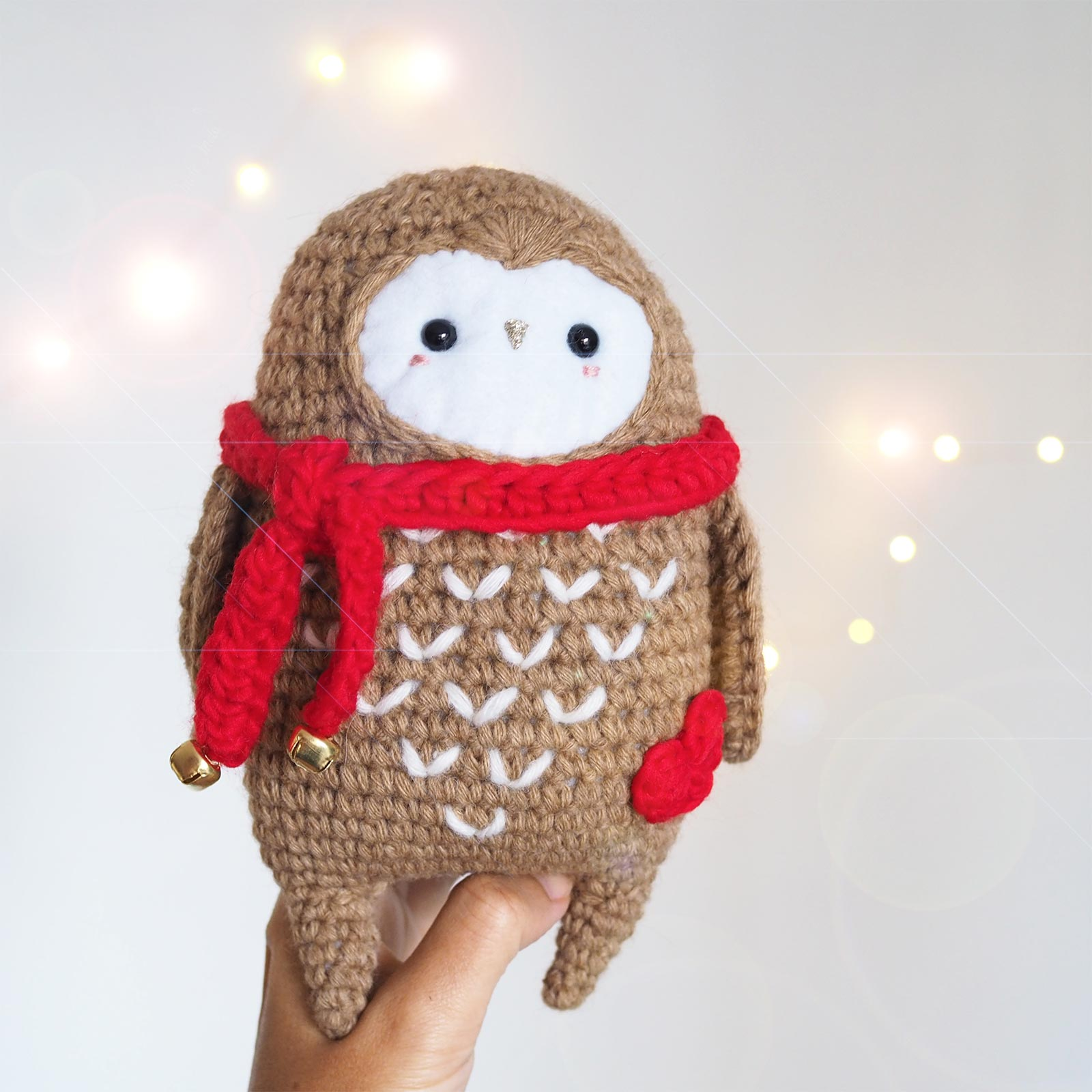 crochet chouette Noël owl écharpe rouge essentials alpaca Rico Design boutique MeliMelo