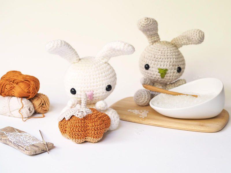 crochet citrouille petit lapin lapinou Rico Design Scheepjes Catona Coton laboutiquedemelimelo