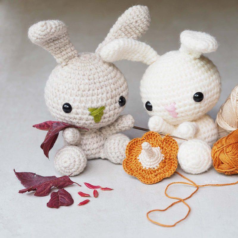 crochet citrouille petit lapin lapinous encours Rico Design Alpaca Blend Chunky laboutiquedemelimelo