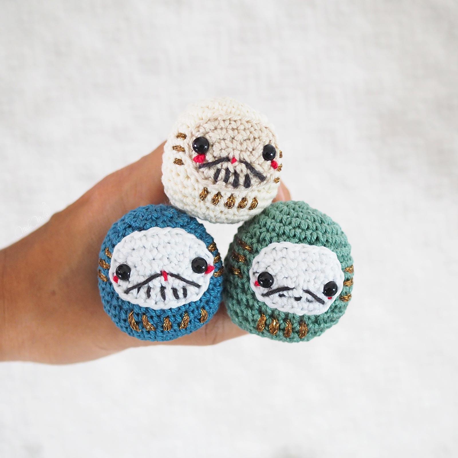 crochet-daruma-amulettes-japon-japan-amigurumi boutique melimelo