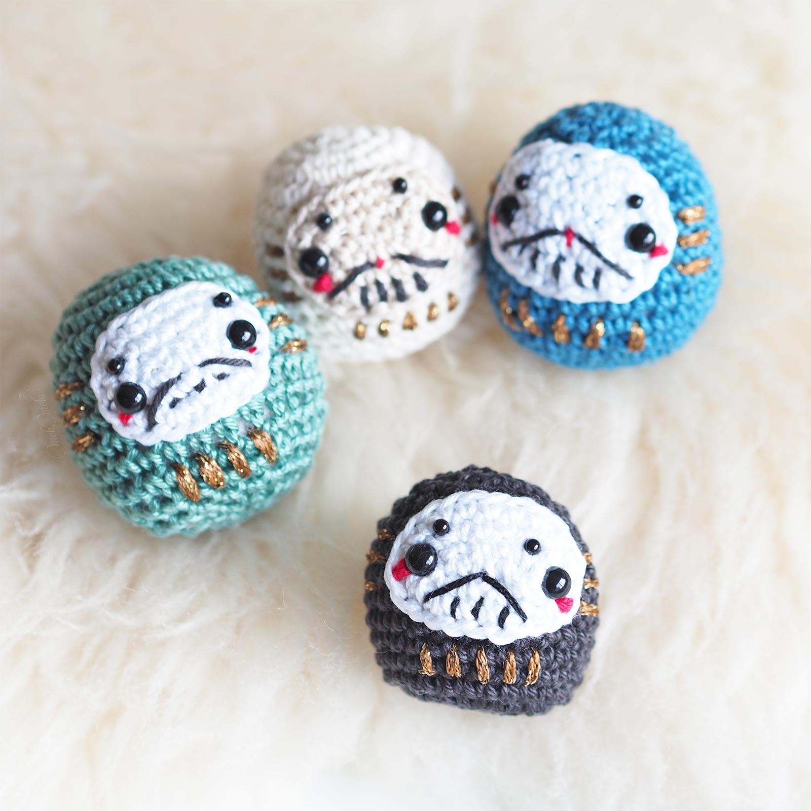 crochet Daruma Japon amigurumi Boutique MeliMelo
