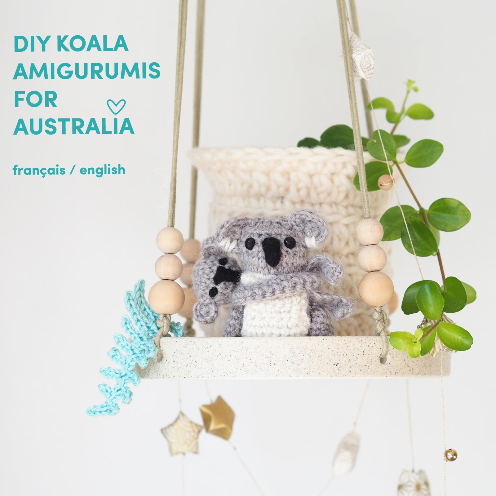 DIY crochet koala mum baby australia support WIRES-Australia Boutique MeliMelo