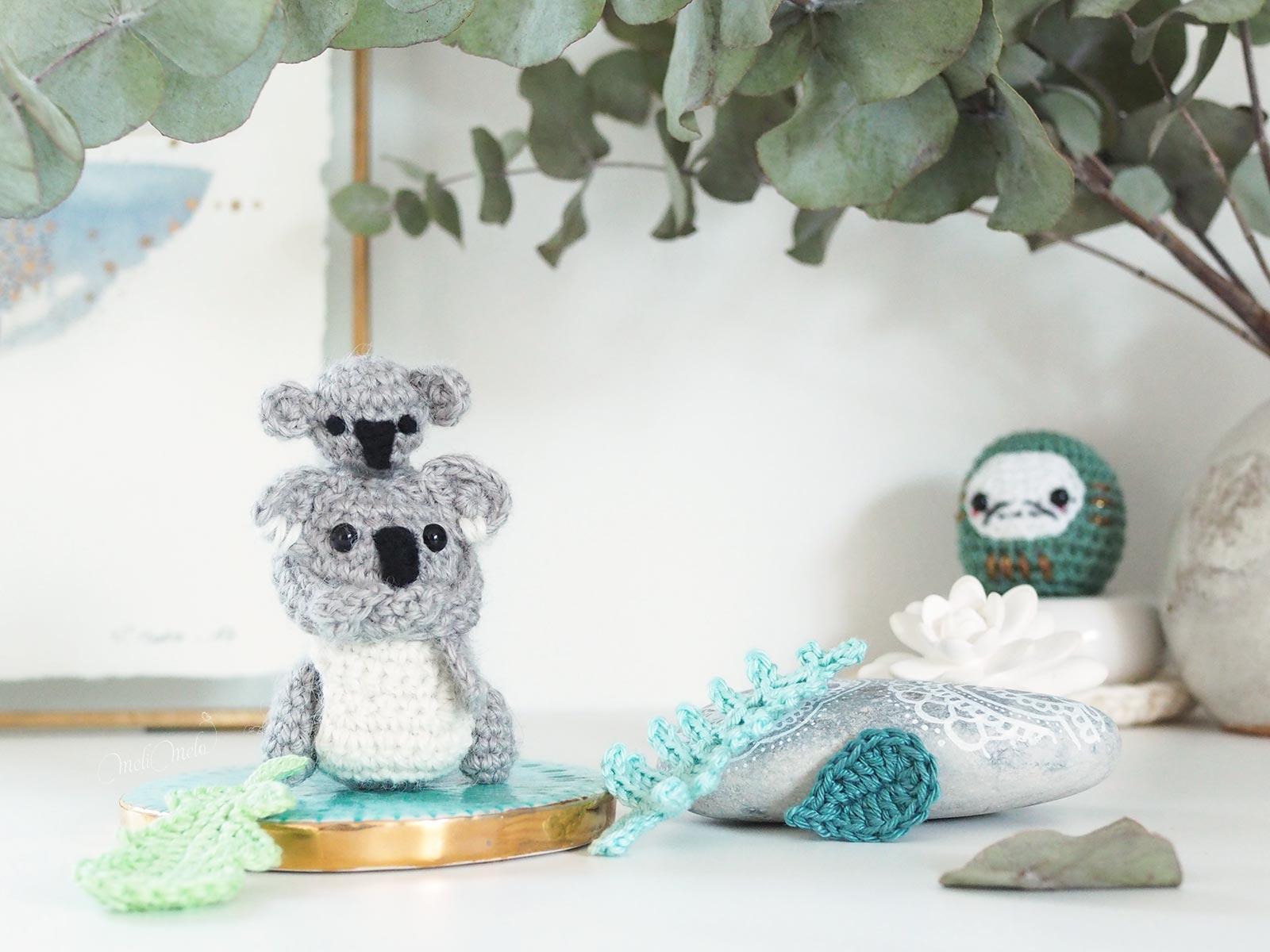 crochet diy tutoriel koala maman bébé marsupiaux boutique melimelo