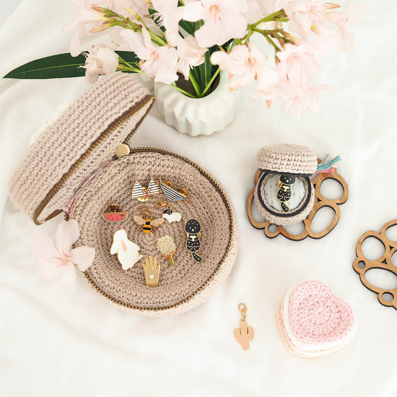 crochet écrins trésors chouettekit coton ricorumi laboutiquedemelimelo