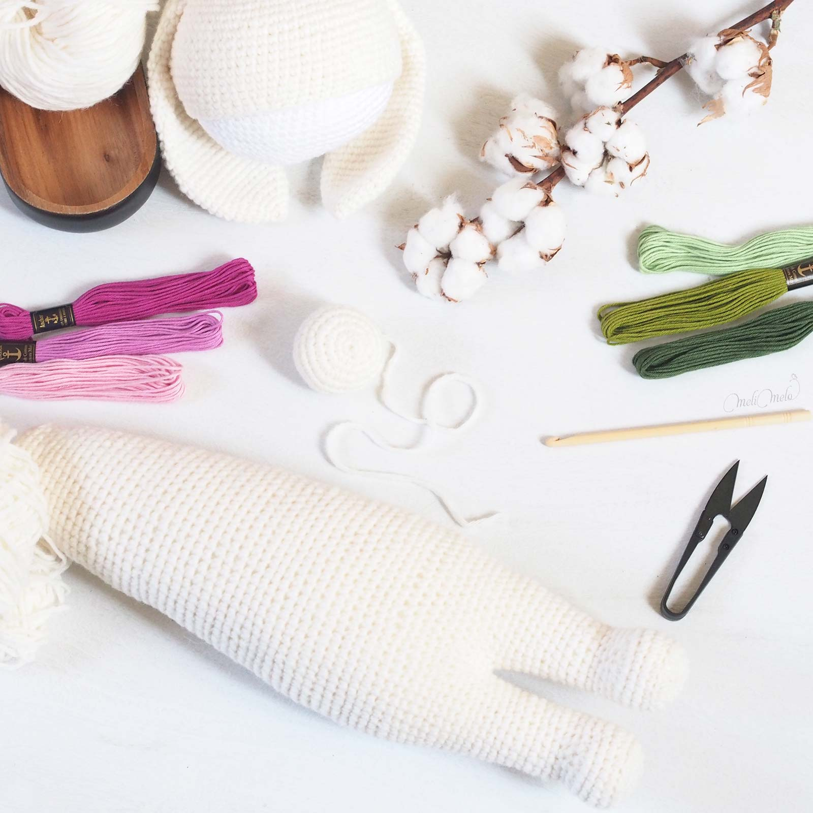 crochet lapin bunny rita Lalylala en cours laine alpaca chunky ricodesign laboutiquedemelimelo