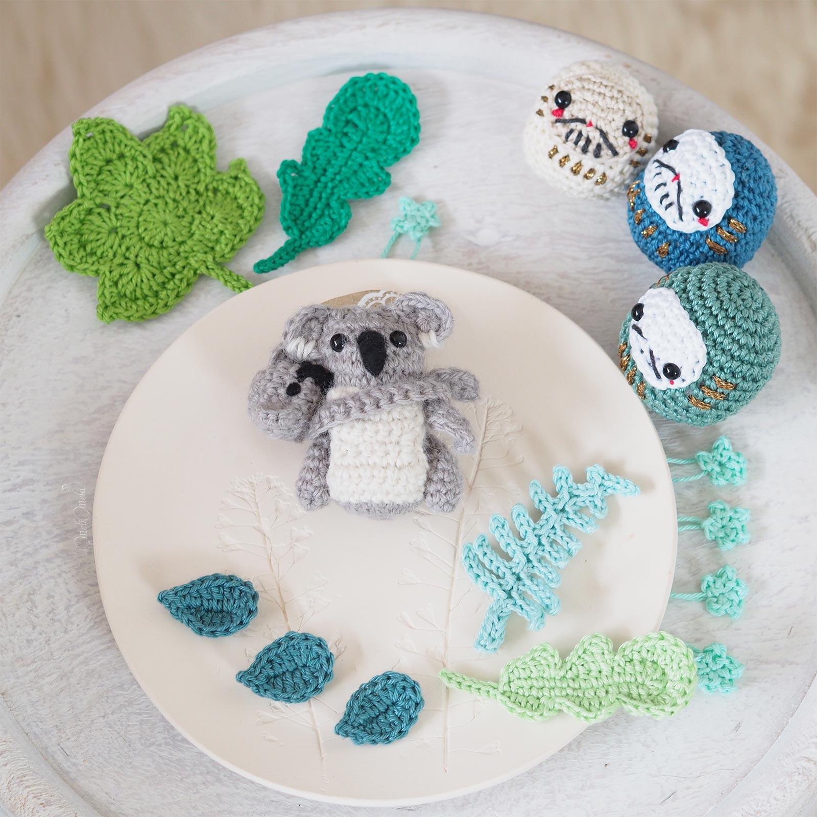 crochet feuilles Daruma Japon koala boutique MeliMelo