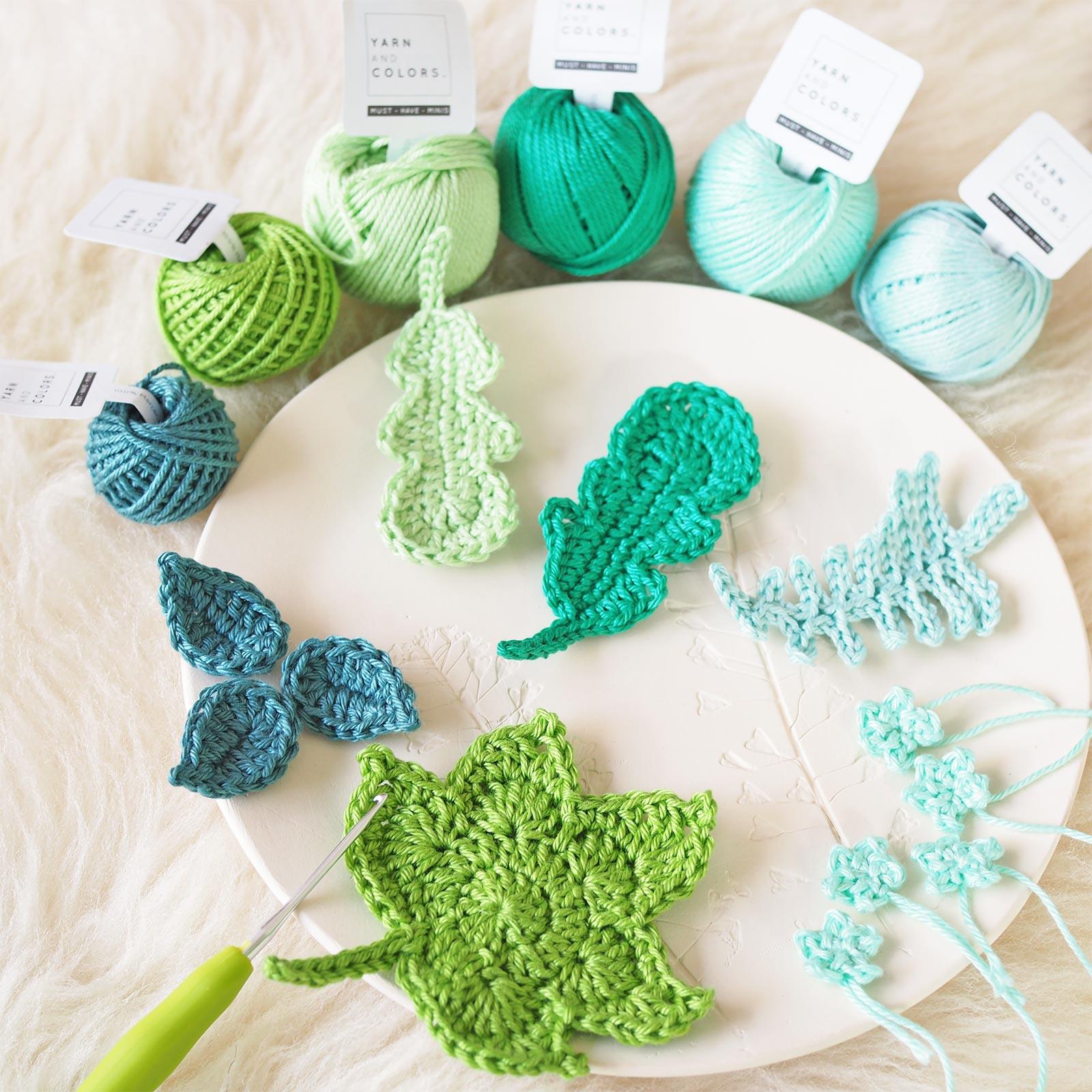 crochet feuilles leaves boutique melimelo