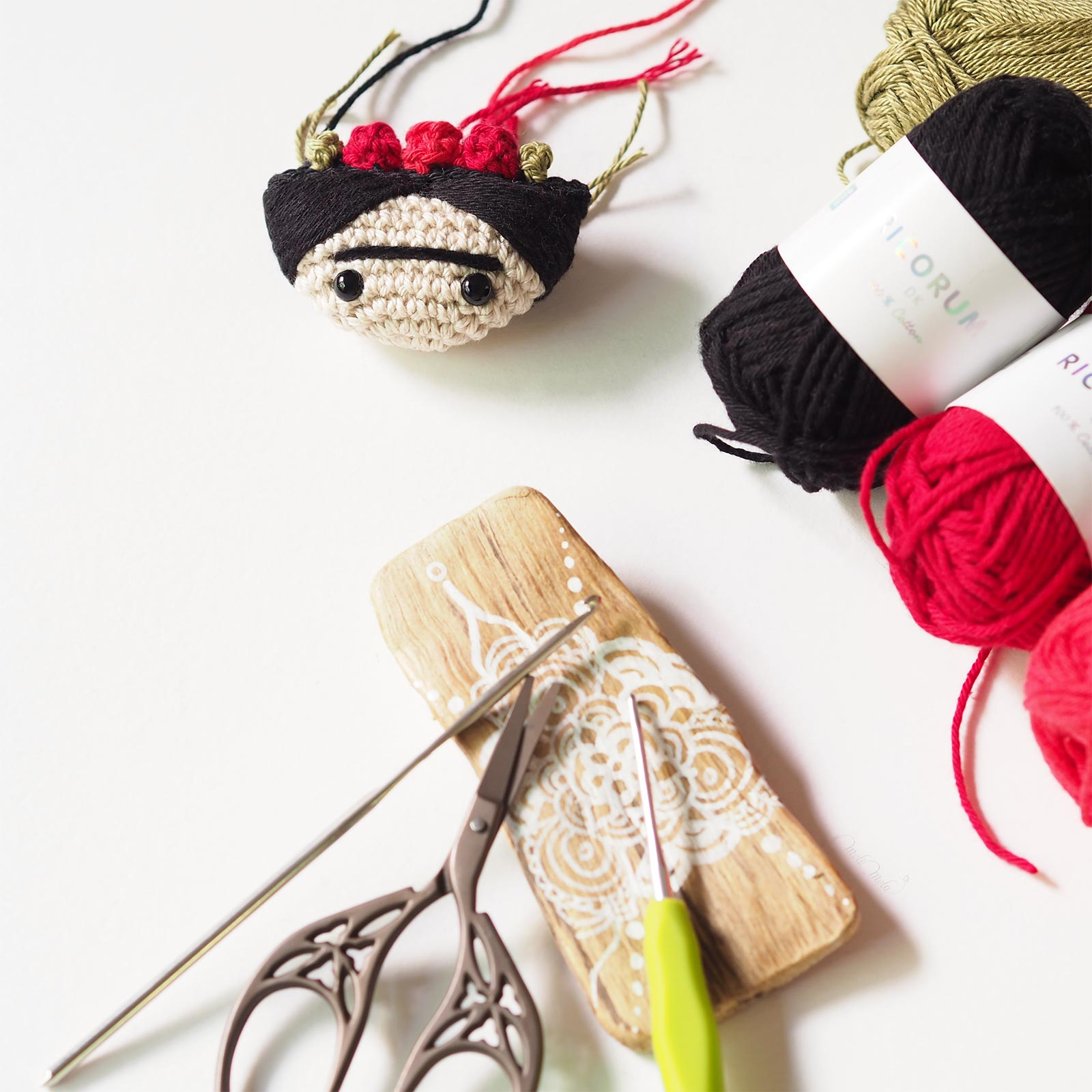 Frida Kahlo crochet Ricorumi Rico Design Catona Scheepjes laboutiquedemelimelo