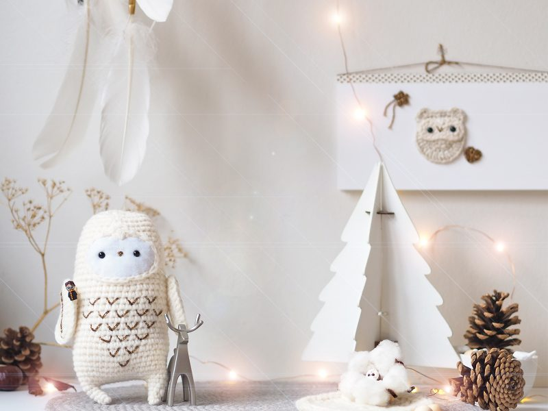 crochet Hedwig snowy owl Harry Potter déco Noël laboutiquedemelimelo