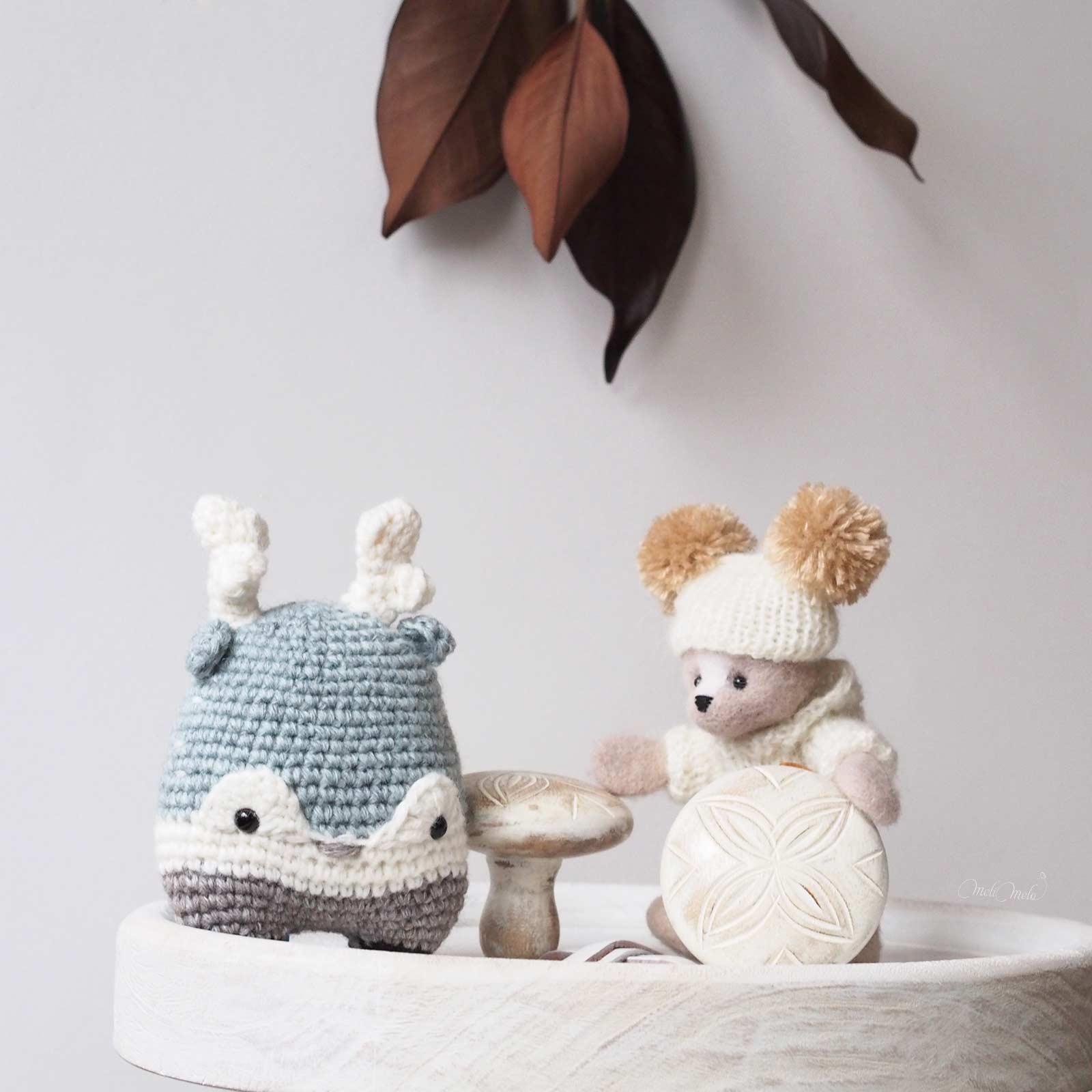 crochet Heinz stag lalylala wool alpaca chunky ricodesign fielt bear laboutiquedemelimelo