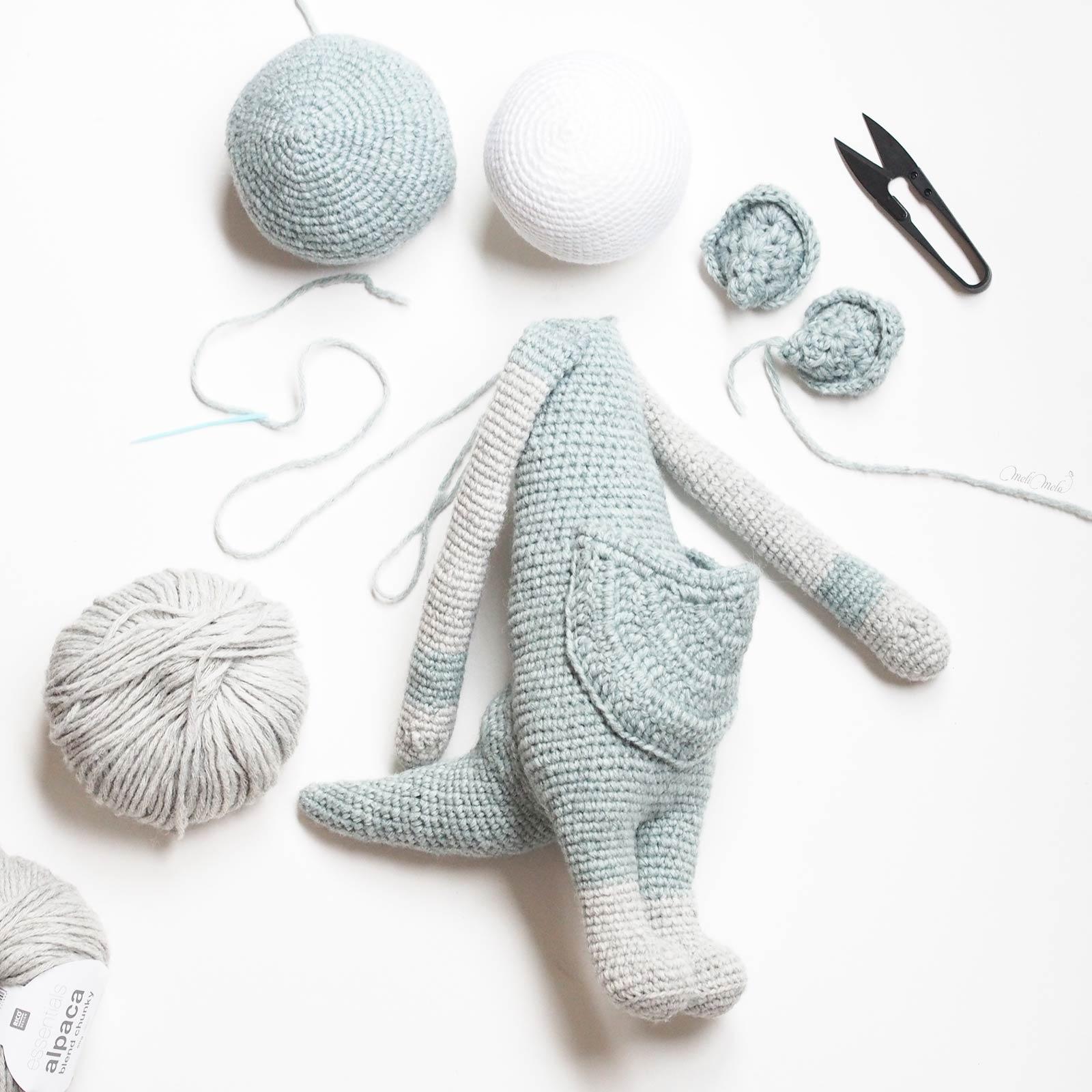 crochet kangourou Kira assemblage encours Lalylala alpaca ricodesign laboutiquedemelimelo