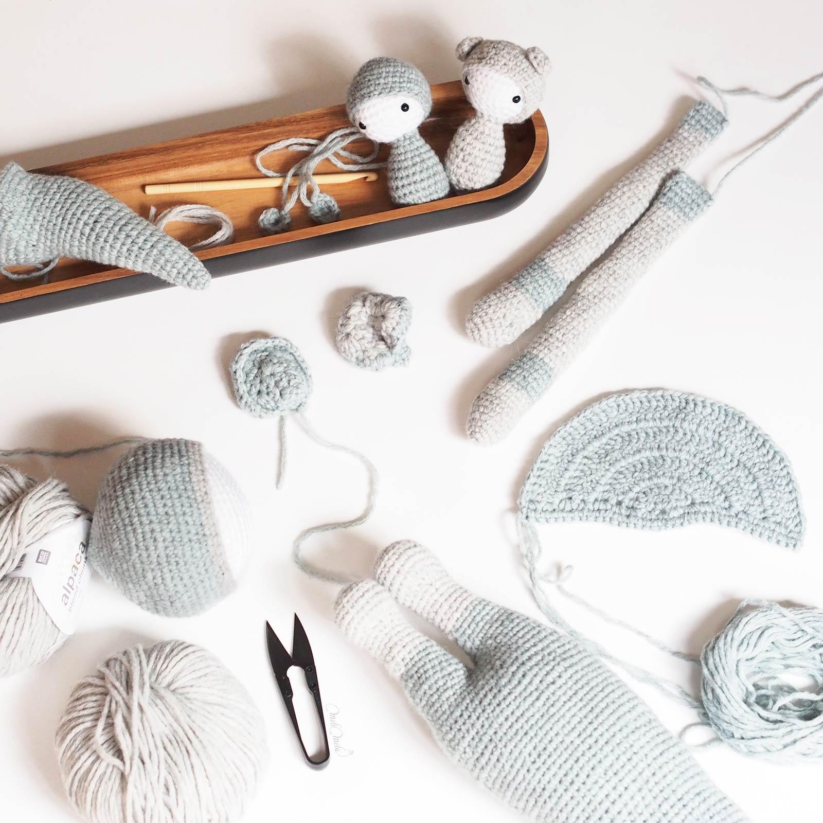 crochet kangourou Kira corps encours Lalylala alpaca ricodesign laboutiquedemelimelo