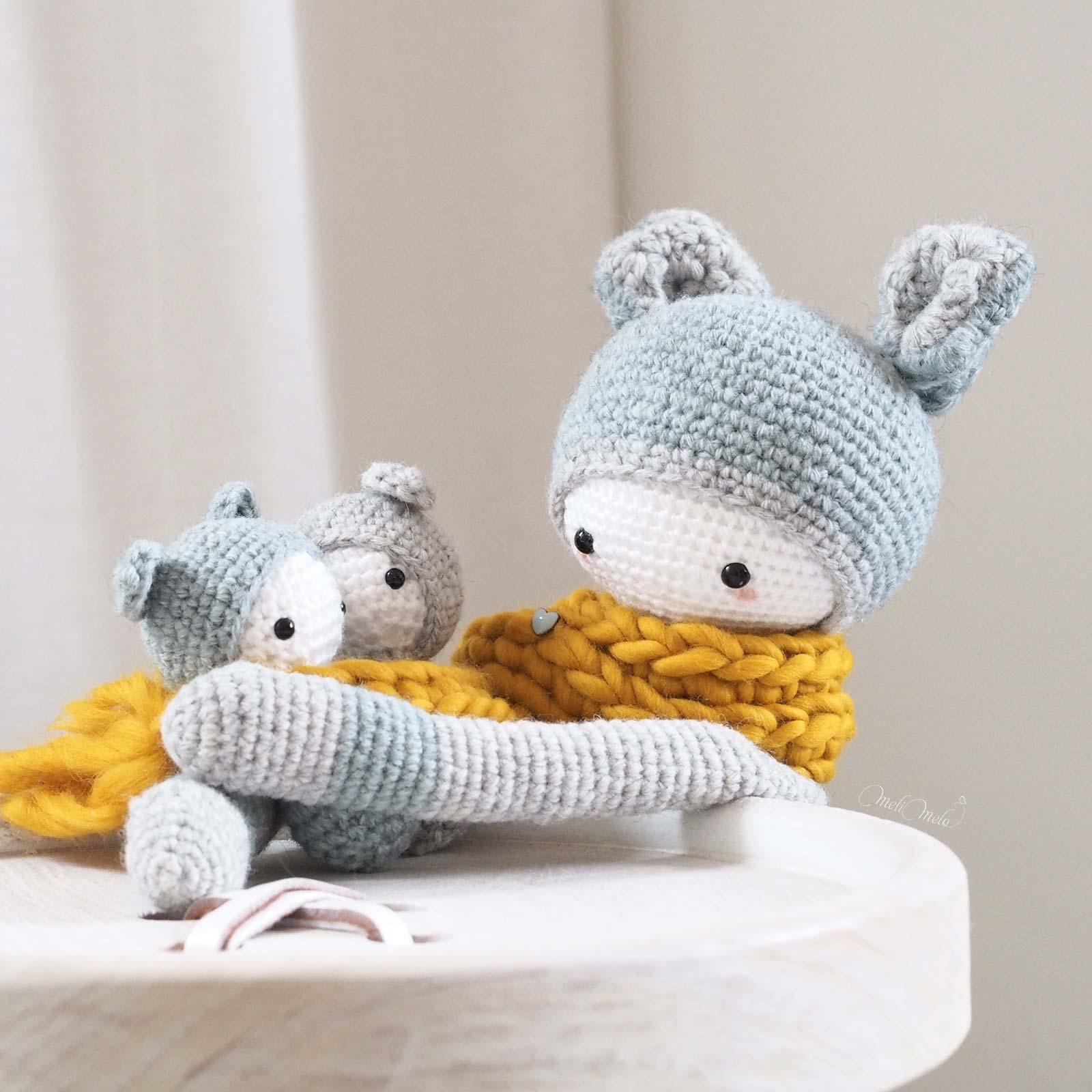 crochet kangourou Kira jumeaux Lalylala alpaca ricodesign laboutiquedemelimelo