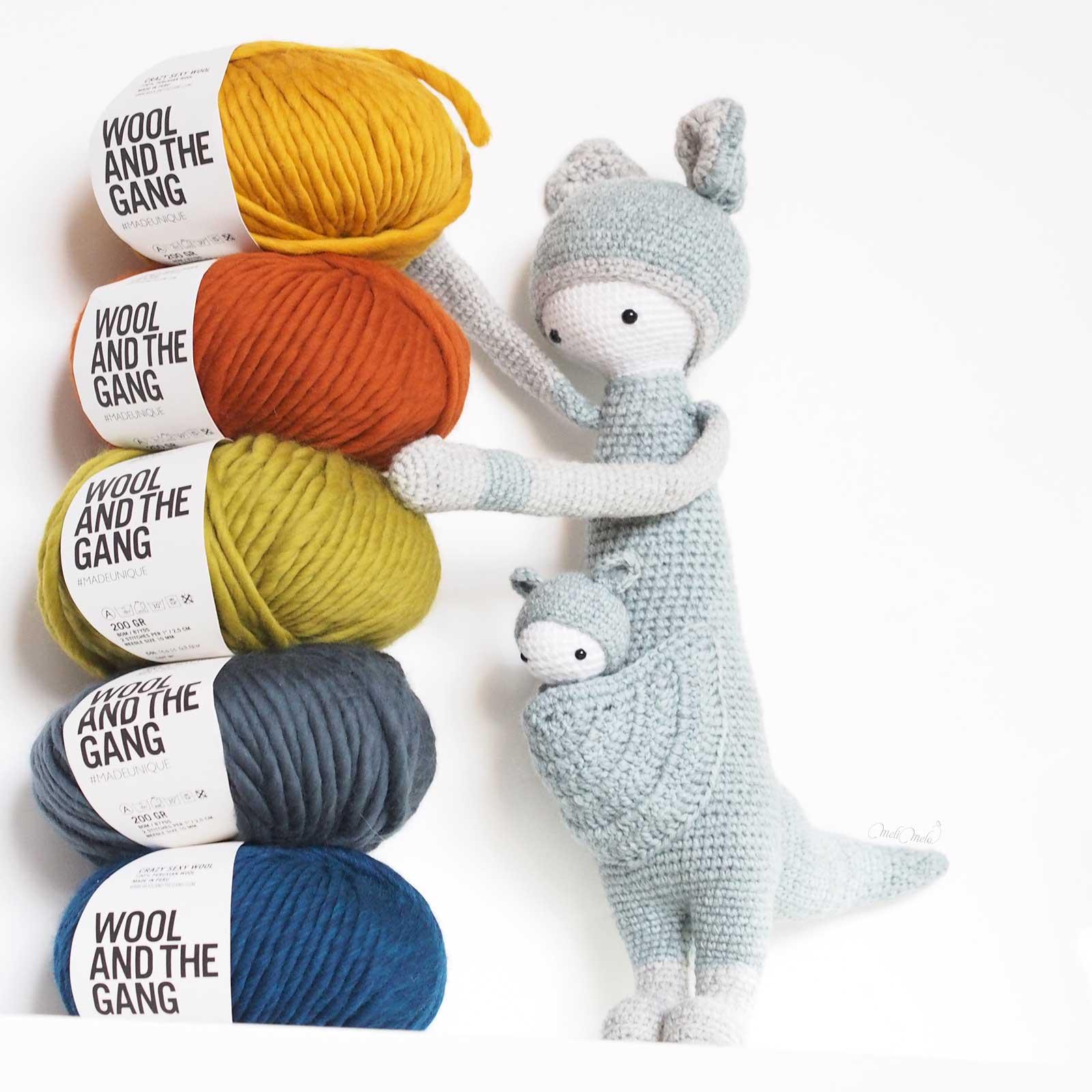 crochet kangourou Kira encours Lalylala wool woolandthegang colors laboutiquedemelimelo