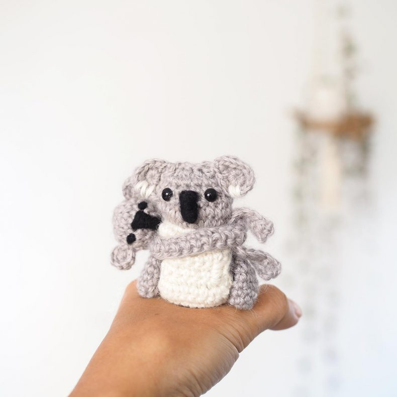 crochet koala tiny mini diy boutique melimelo sugar baby alpaca wool and the gang