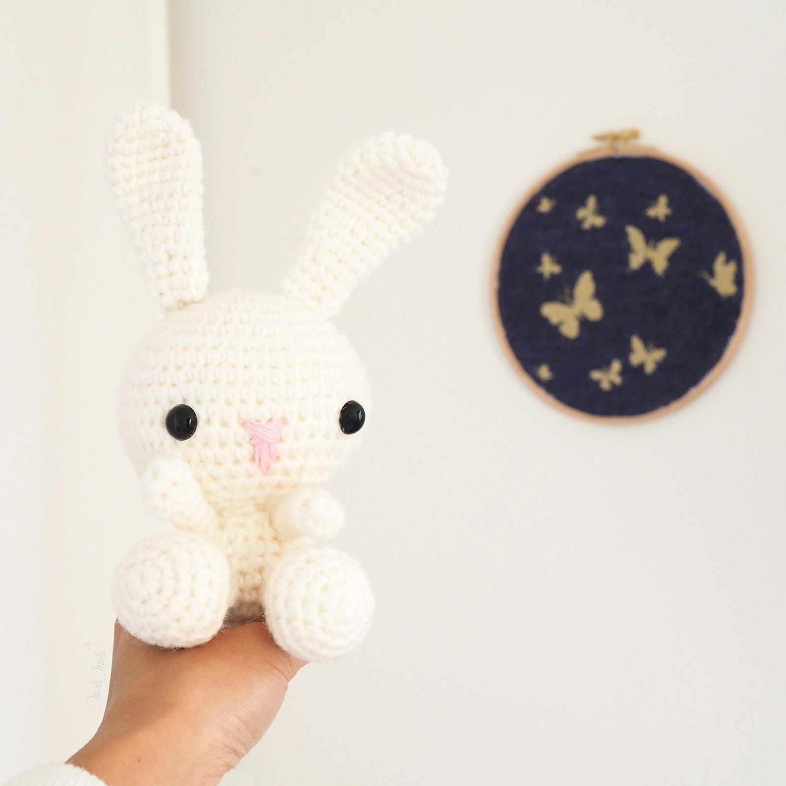 bonne nuit crochet lapin blanc laine alpaca laboutiquedemelimelo