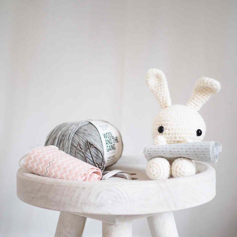 crochet lapin blanc laine alpaca personnalisation laboutiquedemelimelo