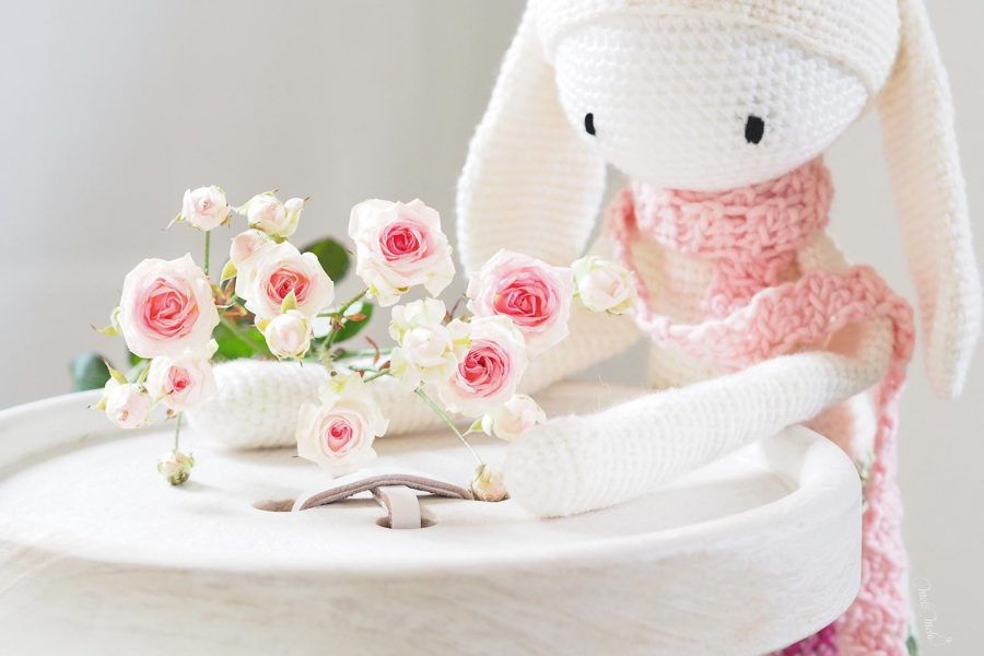 crochet lapin bunny rita Lalylala bouquet rose laine alpaca chunky ricodesign laboutiquedemelimelo