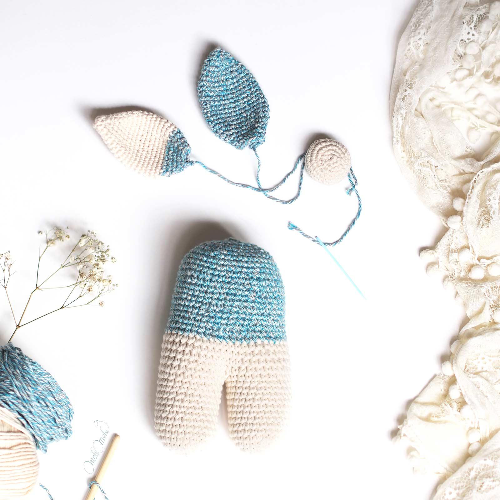 crochet lapin lanukas conejo bipedo laboutiquedemelimelo
