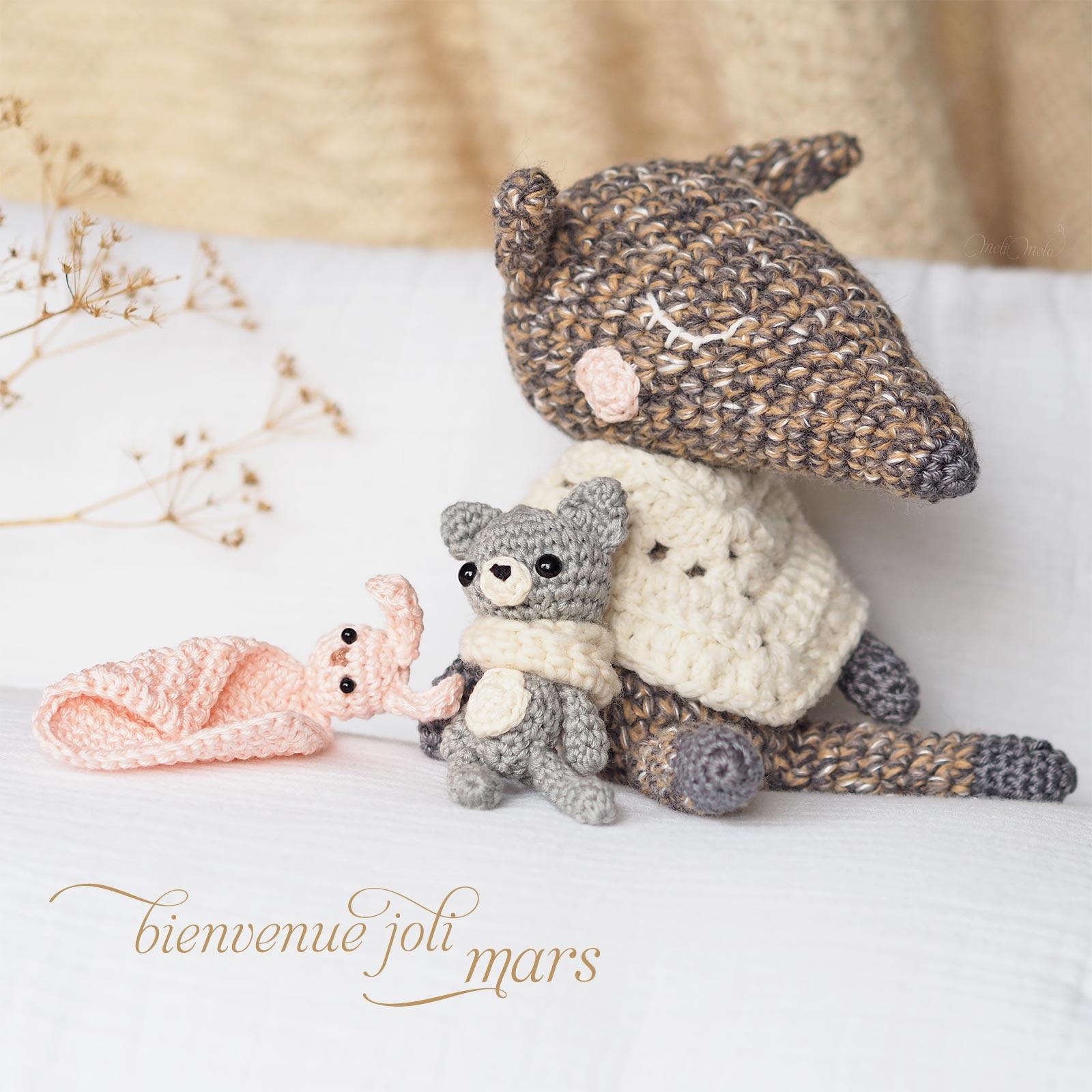 crochet loup Luppi doudou mini ourson lapin @kezakoflo @laboutiquedemelimelo